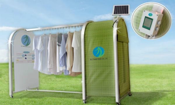 Dàn phơi đồ tự động có lều chứa đồ tiện dụng