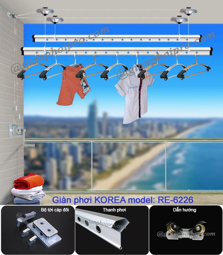 giàn phơi thông minh Korea